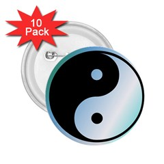 Ying Yang  2 25  Button (10 Pack) by Siebenhuehner