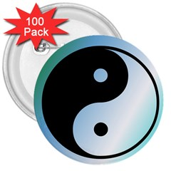 Ying Yang  3  Button (100 Pack) by Siebenhuehner