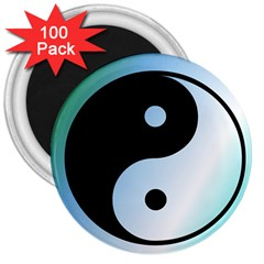 Ying Yang  3  Button Magnet (100 Pack) by Siebenhuehner