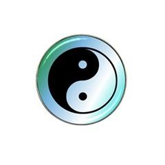 Ying Yang  Golf Ball Marker (for Hat Clip) by Siebenhuehner