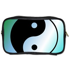 Ying Yang  Travel Toiletry Bag (two Sides) by Siebenhuehner