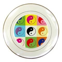 Ying Yang   Porcelain Display Plate by Siebenhuehner