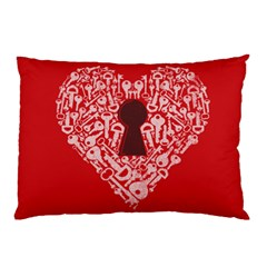 The Key to my heart Pillow Case (Two Sides) by Contest1836099