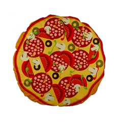 Pizza By Divad Brown   Standard 15  Premium Round Cushion    Wnw8ub855ifq   Www Artscow Com Back