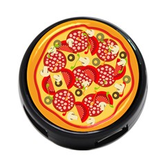 Pizza By Divad Brown   4 Port Usb Hub (two Sides)   8a59nhot26ag   Www Artscow Com Front