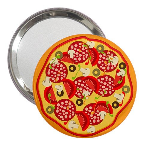 Pizza By Divad Brown   3  Handbag Mirror   Si75b4agjm14   Www Artscow Com Front