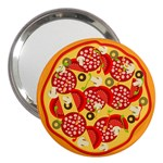 pizza - 3  Handbag Mirror
