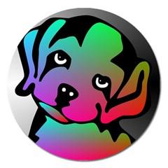 Dog Magnet 5  (round) by Siebenhuehner