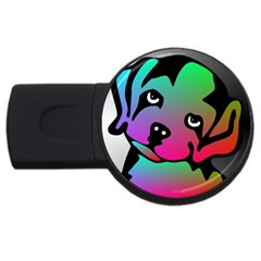 Dog 4GB USB Flash Drive (Round) by Siebenhuehner