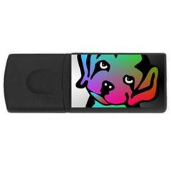 Dog 4gb Usb Flash Drive (rectangle) by Siebenhuehner
