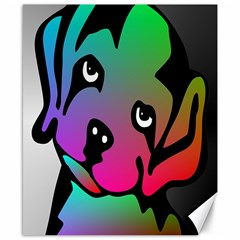 Dog Canvas 8  x 10  (Unframed) by Siebenhuehner