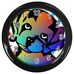 Dog Wall Clock (black) by Siebenhuehner