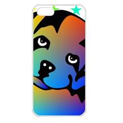 Dog Apple Iphone 5 Seamless Case (white) by Siebenhuehner