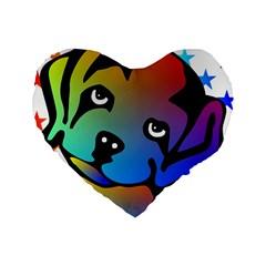 Dog 16  Premium Heart Shape Cushion  by Siebenhuehner