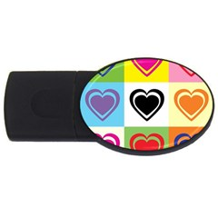 Hearts 4gb Usb Flash Drive (oval) by Siebenhuehner