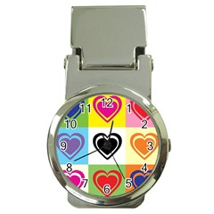 Hearts Money Clip With Watch by Siebenhuehner