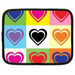 Hearts Netbook Sleeve (xxl) by Siebenhuehner