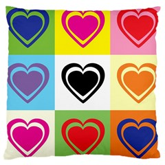 Hearts Large Cushion Case (two Sided)  by Siebenhuehner