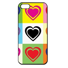Hearts Apple Iphone 5 Seamless Case (black) by Siebenhuehner