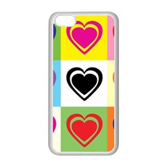 Hearts Apple Iphone 5c Seamless Case (white) by Siebenhuehner