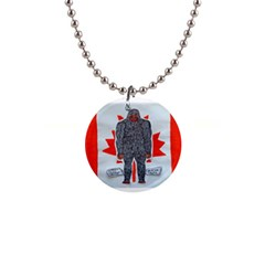 Big Foot A, Canada Flag Button Necklace by creationtruth