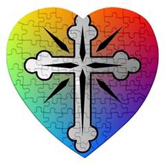 Cross Jigsaw Puzzle (heart) by Siebenhuehner