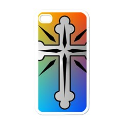 Cross Apple Iphone 4 Case (white) by Siebenhuehner