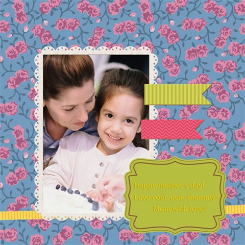 Mpthers Day By Mom   Scrapbook Page 8  X 8    T7plrzaexrt6   Www Artscow Com 8 x8 Scrapbook Page - 1