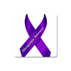 Fibro Awareness Ribbon Magnet (square) by FunWithFibro
