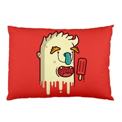 Eat the popsicle and relax Pillow Case (Two Sides) by Failuretalent
