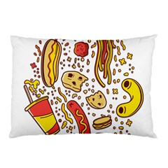 Food Frenzy Pillow Case (Two Sides) by failuretalentstuff
