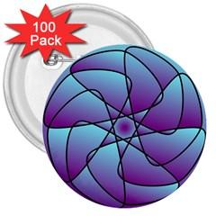 Pattern 3  Button (100 Pack) by Siebenhuehner