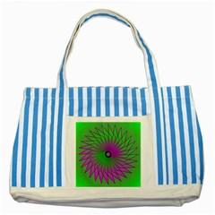 Pattern Blue Striped Tote Bag by Siebenhuehner