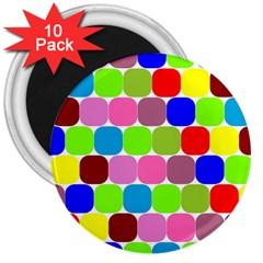 Color 3  Button Magnet (10 Pack) by Siebenhuehner