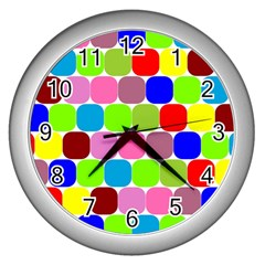 Color Wall Clock (silver) by Siebenhuehner
