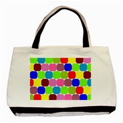 Color Twin-sided Black Tote Bag by Siebenhuehner