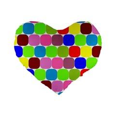 Color 16  Premium Heart Shape Cushion  by Siebenhuehner