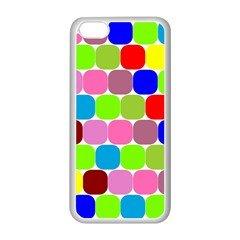 Color Apple Iphone 5c Seamless Case (white) by Siebenhuehner