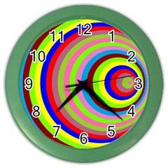 Color Wall Clock (color) by Siebenhuehner