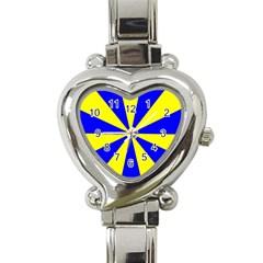 Pattern Heart Italian Charm Watch  by Siebenhuehner