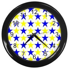 Star Wall Clock (black) by Siebenhuehner