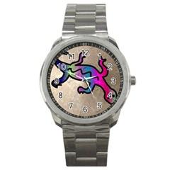 Lizard Sport Metal Watch by Siebenhuehner