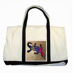 Lizard Two Toned Tote Bag by Siebenhuehner