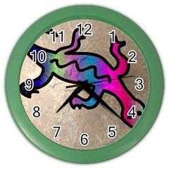 Lizard Wall Clock (color) by Siebenhuehner