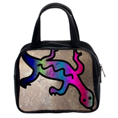 Lizard Classic Handbag (two Sides)