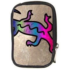 Lizard Compact Camera Leather Case by Siebenhuehner