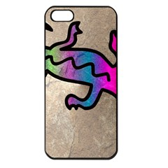 Lizard Apple Iphone 5 Seamless Case (black) by Siebenhuehner