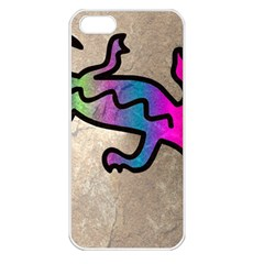 Lizard Apple Iphone 5 Seamless Case (white) by Siebenhuehner
