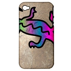 Lizard Apple Iphone 4/4s Hardshell Case (pc+silicone) by Siebenhuehner