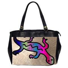 Lizard Oversize Office Handbag (two Sides) by Siebenhuehner